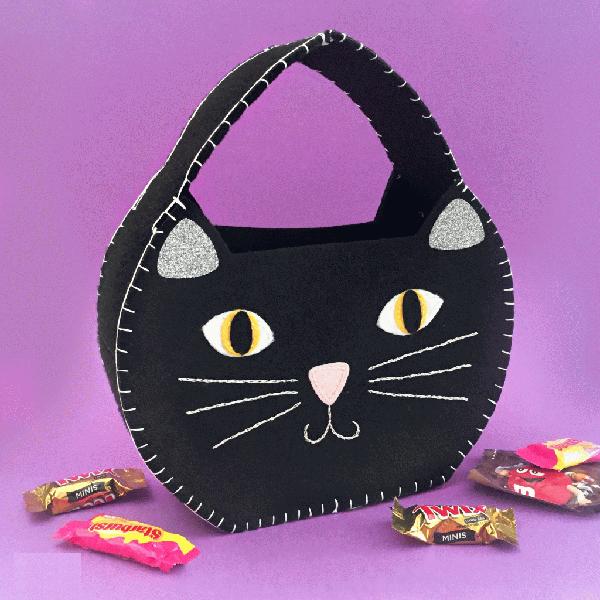Tự may túi mèo mun cực yêu từ vải dạ - Ảnh 8.