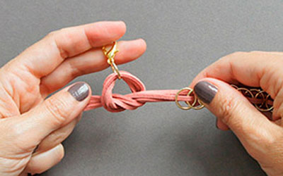 Ai mê đồ handmade thì thử ngay cách đan vòng tay cực cá tính này - Ảnh 7.