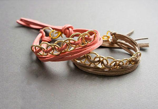 Ai mê đồ handmade thì thử ngay cách đan vòng tay cực cá tính này - Ảnh 9.