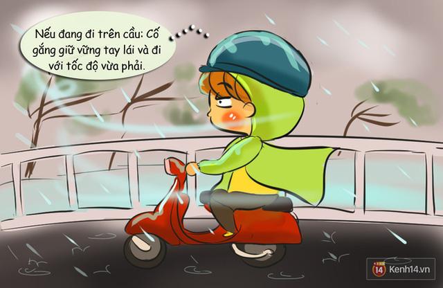 Những nguyên tắc đi đường cần nhớ khi có gió giật mạnh ngày mưa bão - Ảnh 4.