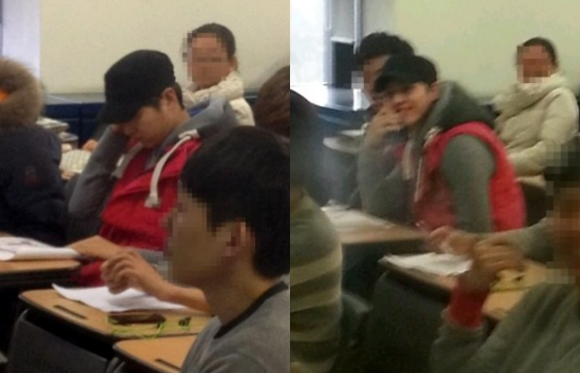 Có ai như Song Joong Ki: Thời sinh viên toàn bị chụp lén và hình nào cũng giống bìa tạp chí - Ảnh 2.