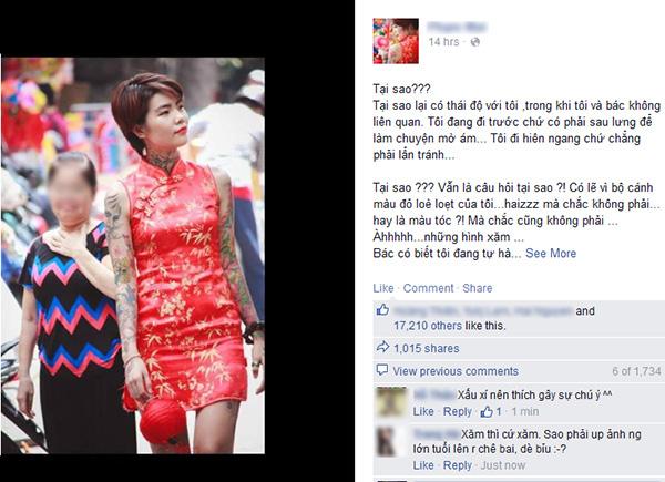 Cô gái cạo trọc và xăm kín đầu vì muốn lập kỉ lục người phụ nữ có nhiều hình xăm nhất Việt Nam - Ảnh 1.