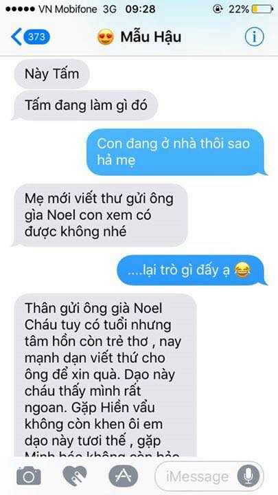 Hot nhất Facebook hôm nay: Chùm tin nhắn với con trai của bà mẹ Việt bá đạo nhất trái đất! - Ảnh 1.