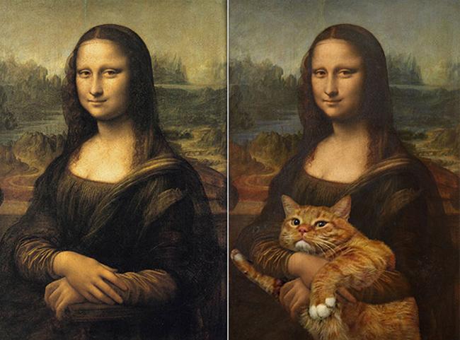 Chùm ảnh chế mèo béo hóa thân thành nàng thơ trong các bức họa nổi tiếng - Ảnh 1.
