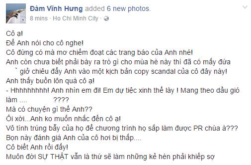 Đàm Vĩnh Hưng đáp trả khi bị nói copy scandal của Hà Hồ, chèn ép Phương Thanh - Ảnh 1.