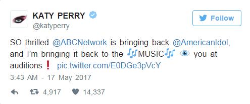 Vừa tái sinh, American Idol đã mời Katy Perry ngồi ghế nóng - Ảnh 2.