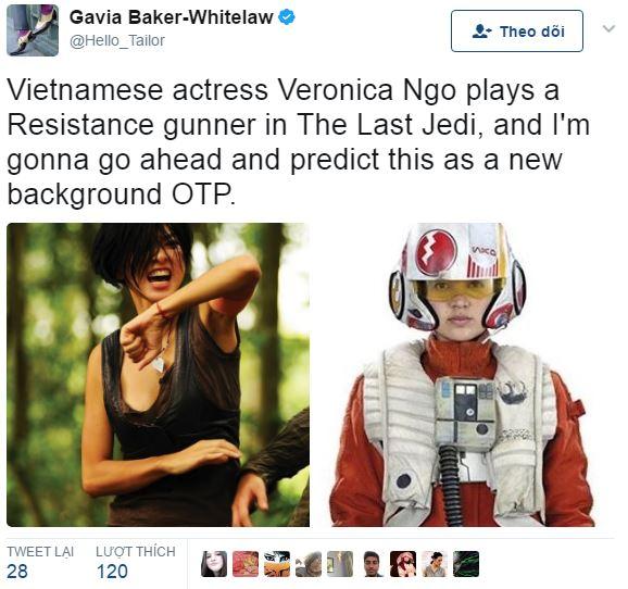"""Hé lộ vai diễn của Ngô Thanh Vân trong bom tấn """"Star Wars: The Last Jedi"""" - Ảnh 1."""