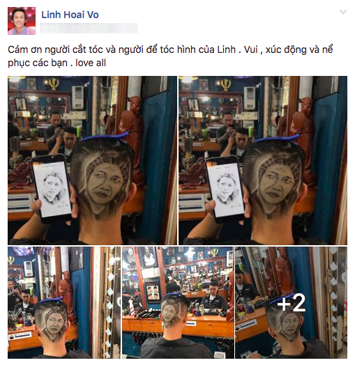 """Fan cuồng chịu chơi """"xăm"""" hình Hoài Linh… lên đầu! - Ảnh 1."""