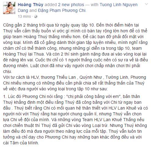 Hoàng Thùy viết tâm thư sau trận cãi vã với học trò trên sóng Quốc gia - ảnh 2