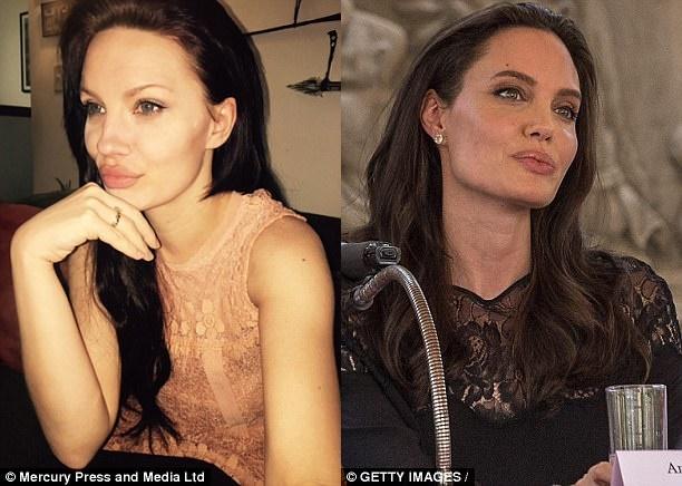 Người mẹ 2 con bất ngờ nổi tiếng vì quá giống ngôi sao Hollywood Angelina Jolie - Ảnh 1.