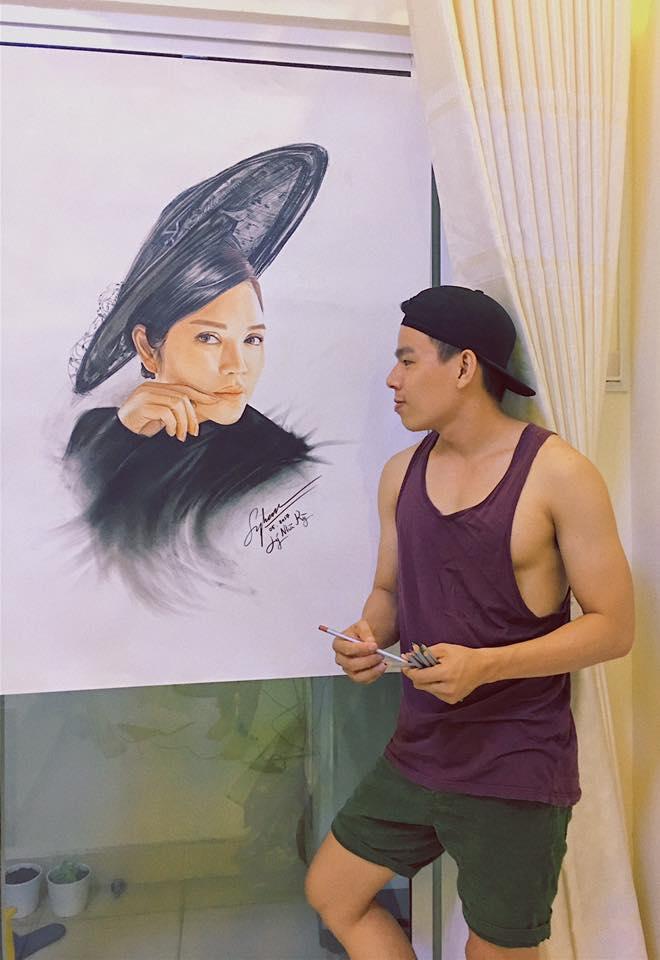 HLV và thí sinh The Face 2017 đẹp không chỗ chê trong loạt tranh của chàng trai Đồng Tháp - Ảnh 7.