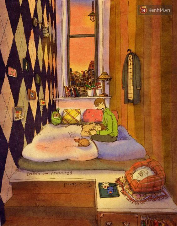 Cảm giác bình yên và ấm áp nhất: Được rúc vào vòng tay bạn trai ngủ quên cả thế giới! - Ảnh 15.