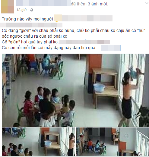TP. HCM: Cô hiệu trưởng trường mầm non dốc ngược đầu bé gái ra cửa sổ hù dọa vì ăn ít - Ảnh 1.