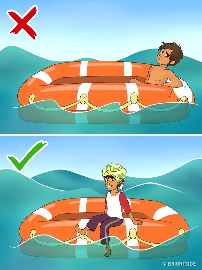 '. Làm gì để sống sót nếu đột nhiên bạn ở một mình giữa biển khơi? .'