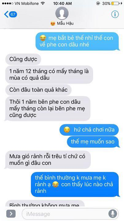 Hot nhất Facebook hôm nay: Chùm tin nhắn với con trai của bà mẹ Việt bá đạo nhất trái đất! - Ảnh 21.