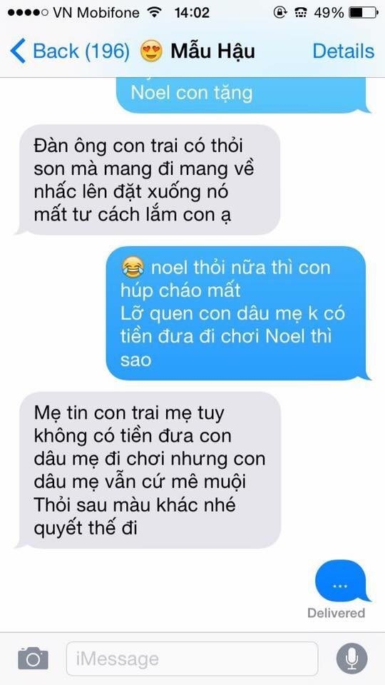 Hot nhất Facebook hôm nay: Chùm tin nhắn với con trai của bà mẹ Việt bá đạo nhất trái đất! - Ảnh 7.