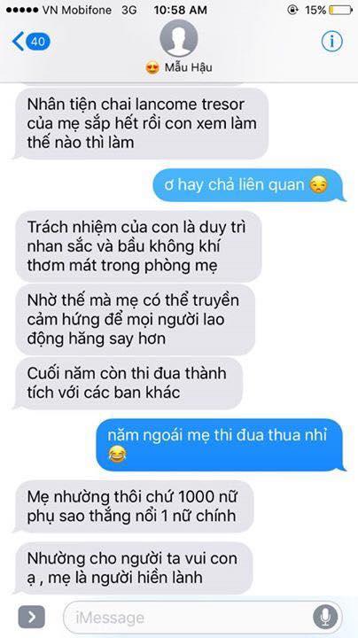 Hot nhất Facebook hôm nay: Chùm tin nhắn với con trai của bà mẹ Việt bá đạo nhất trái đất! - Ảnh 10.