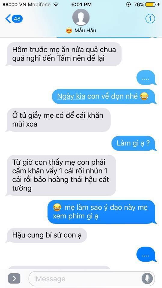 Hot nhất Facebook hôm nay: Chùm tin nhắn với con trai của bà mẹ Việt bá đạo nhất trái đất! - Ảnh 27.