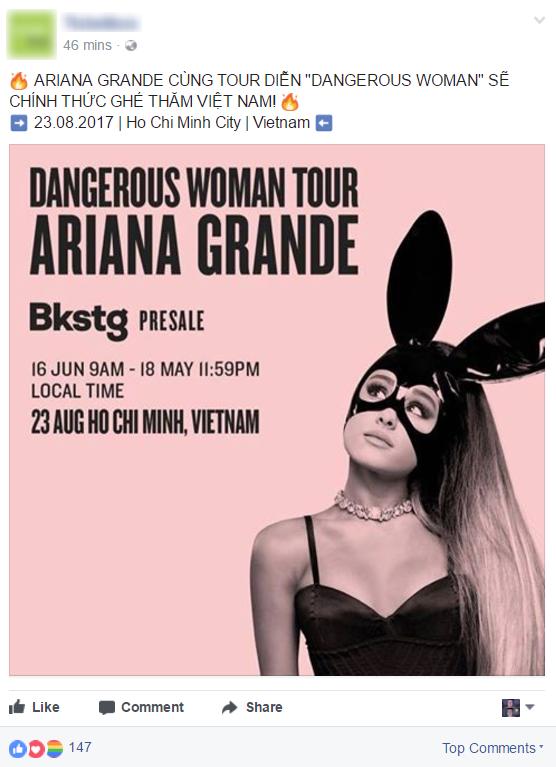 Sốt xình xịch Ariana Grande đi tour sang Việt Nam vào tháng 8 - Ảnh 2.