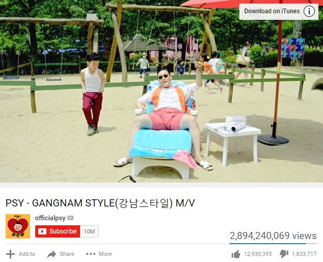 Gangnam Style chính thức không còn là video được xem nhiều nhất Youtube - Ảnh 1.