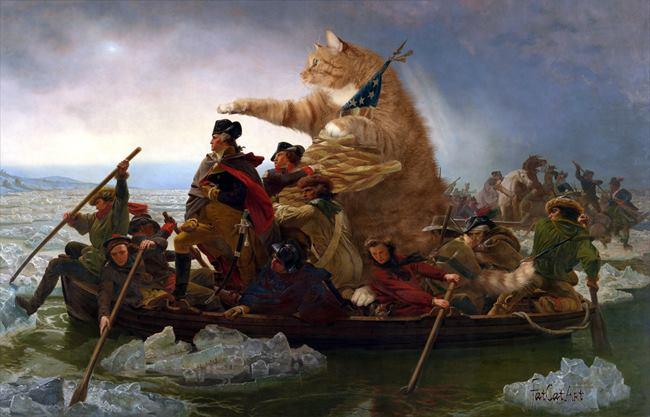 Chùm ảnh chế mèo béo hóa thân thành nàng thơ trong các bức họa nổi tiếng - Ảnh 25.