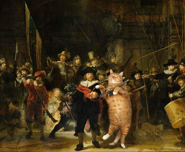 Chùm ảnh chế mèo béo hóa thân thành nàng thơ trong các bức họa nổi tiếng - Ảnh 27.