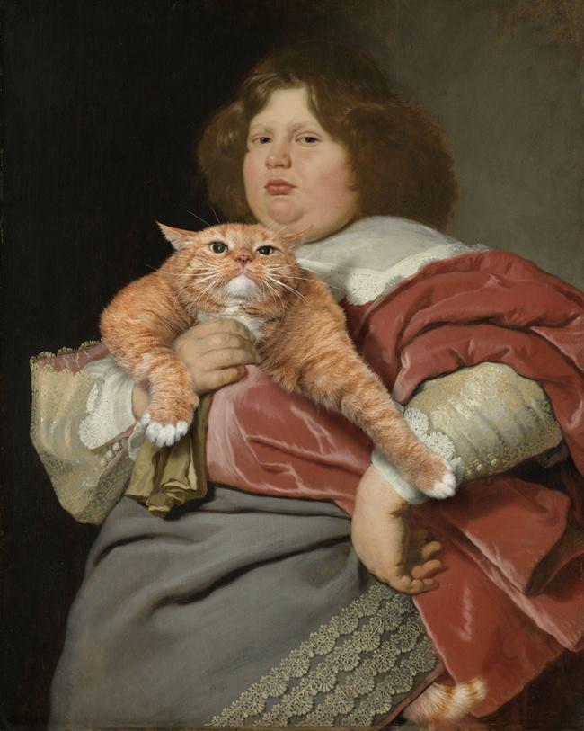Chùm ảnh chế mèo béo hóa thân thành nàng thơ trong các bức họa nổi tiếng - Ảnh 29.