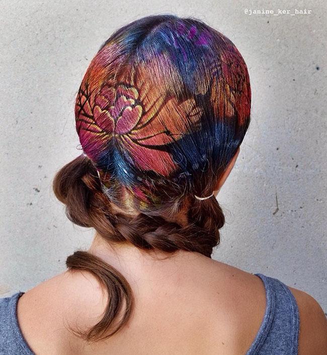 Ngắm những bức tranh vẽ trên tóc, bạn sẽ ngỡ mình đang lạc vào triển lãm nghệ thuật - Ảnh 9.