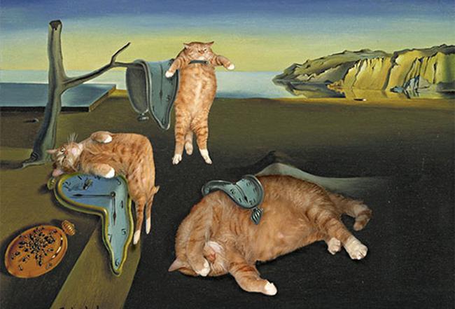 Chùm ảnh chế mèo béo hóa thân thành nàng thơ trong các bức họa nổi tiếng - Ảnh 5.