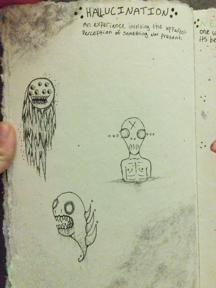 Bộ tranh thuật lại ảo giác kinh hoàng mà cô gái mắc bệnh tâm thần phân liệt nhìn thấy - Ảnh 5.