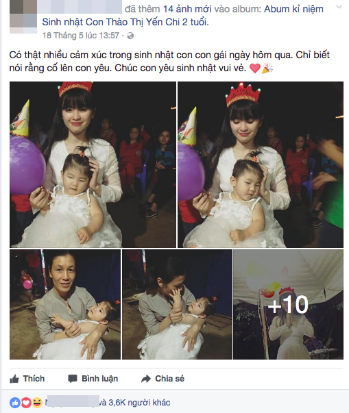 Mẹ nuôi 9x tổ chức sinh nhật hoành tráng cho em bé Lào Cai, tiết lộ người chăm sóc bé thật sự - Ảnh 2.