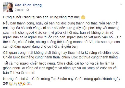 Đây là phản ứng của 2 thành viên team Sang khi Cao Thiên Trang bị loại! - Ảnh 3.