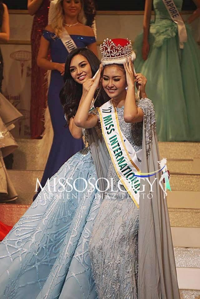 Nhan sắc xinh đẹp của đại diện Indonesia, cô gái đánh bại hơn 70 đối thủ vừa đăng quang Miss International 2017 - Ảnh 1.