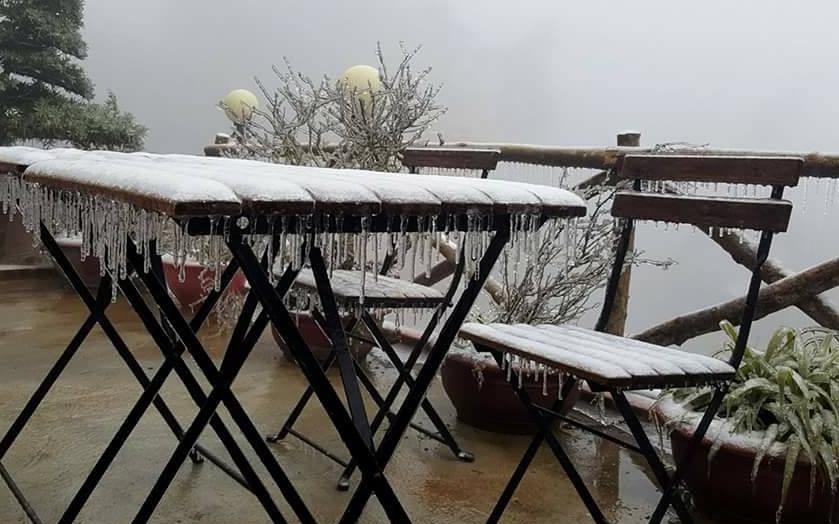Sa Pa mưa rét 4-6 độ C, đỉnh Fansipan có khả năng xuất hiện băng giá