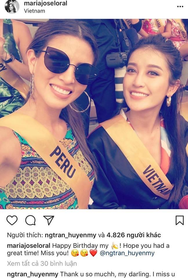 Chưa tới sinh nhật chính thức, Huyền My đã nhận được lời chúc đặc biệt từ Tân Hoa hậu Hòa bình 2017  - Ảnh 1.