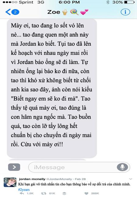 Thánh mọc sừng 2017: Chàng trai bị bạn gái gửi nhầm tin nhắn ngoại tình ngay trước ngày 8/3 - Ảnh 1.