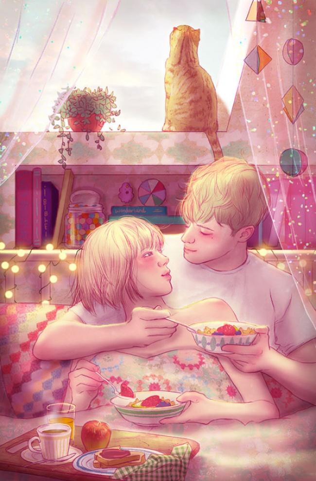 Ngắm nhìn bộ tranh tình yêu siêu ngọt ngào này, bạn cũng sẽ muốn được yêu ngay thôi - Ảnh 5.