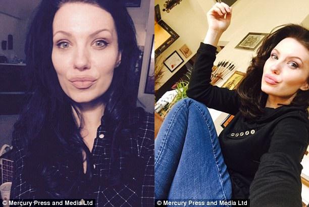 Người mẹ 2 con bất ngờ nổi tiếng vì quá giống ngôi sao Hollywood Angelina Jolie - Ảnh 2.