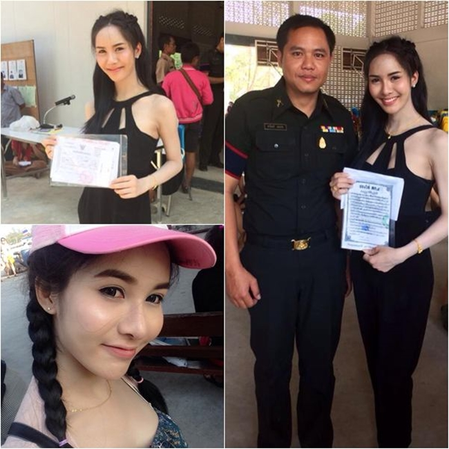 Vẻ đẹp khó cưỡng của những bóng hồng chuyển giới trong đợt tuyển nghĩa vụ quân sự Thái Lan - Ảnh 16.