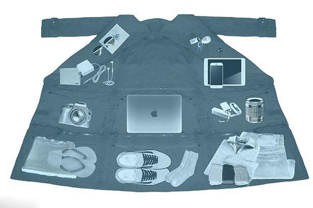 Áo khoác túi thần Doraemon đựng được 15kg hành lý khi đi máy bay - Ảnh 4.