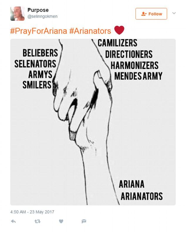 Miley Cyrus và fan khắp thế giới cầu nguyện cho Ariana Grande vượt qua khủng hoảng - Ảnh 9.