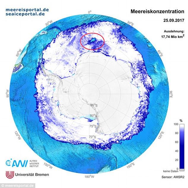 Phát hiện lỗ hổng khổng lồ xuất hiện tại Nam Cực, giới khoa học đang gấp rút tìm kiếm nguyên nhân - ảnh 1