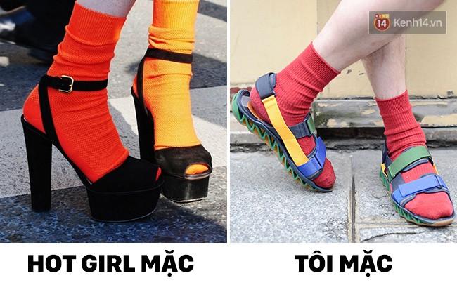 14 mốt thời trang đối nghịch khi hot girl mặc và khi mình mặc - Ảnh 1.