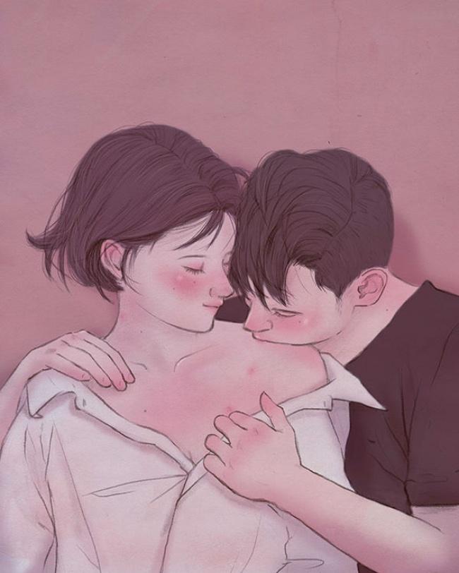 Ngắm nhìn bộ tranh tình yêu siêu ngọt ngào này, bạn cũng sẽ muốn được yêu ngay thôi - Ảnh 9.