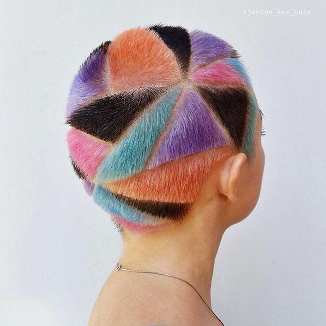 Ngắm những bức tranh vẽ trên tóc, bạn sẽ ngỡ mình đang lạc vào triển lãm nghệ thuật - Ảnh 5.