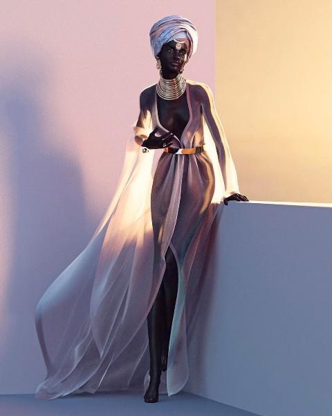 Xôn xao tấm hình nữ người mẫu da đen xinh đẹp nhất mạng xã hội: Người thật hay là mô hình? - Ảnh 6.