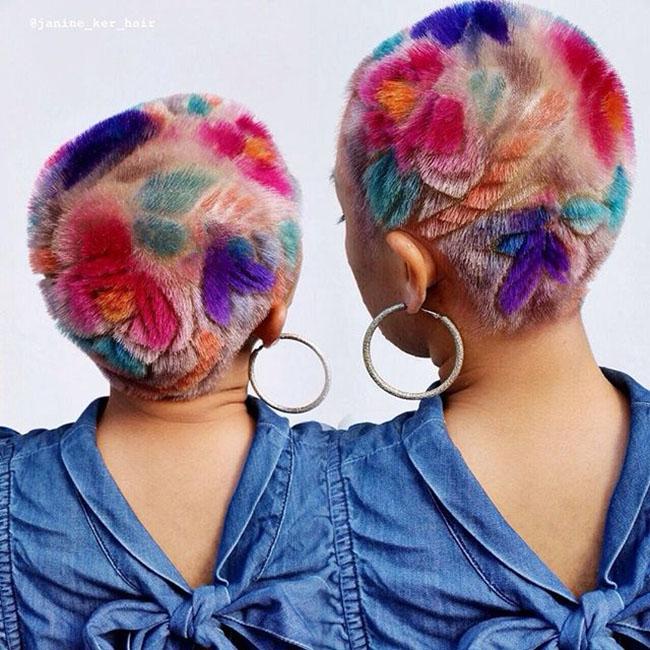 Ngắm những bức tranh vẽ trên tóc, bạn sẽ ngỡ mình đang lạc vào triển lãm nghệ thuật - Ảnh 3.
