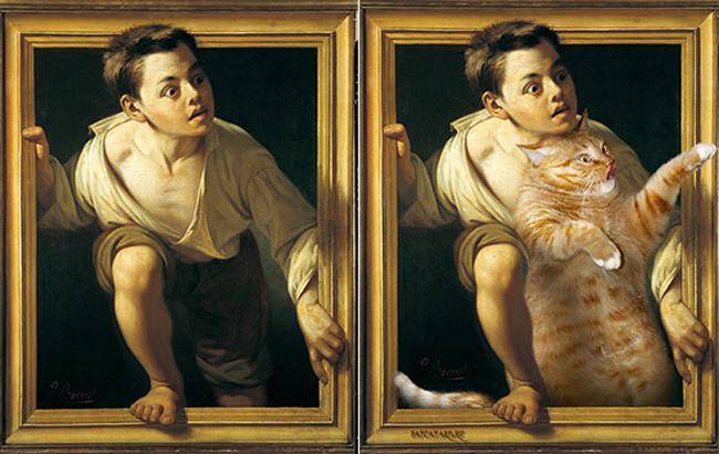 Chùm ảnh chế mèo béo hóa thân thành nàng thơ trong các bức họa nổi tiếng - Ảnh 17.