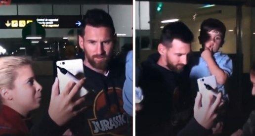Đón bố Messi ở sân bay, bé Thiago gây sốt bởi những cử chỉ dễ thương - ảnh 1