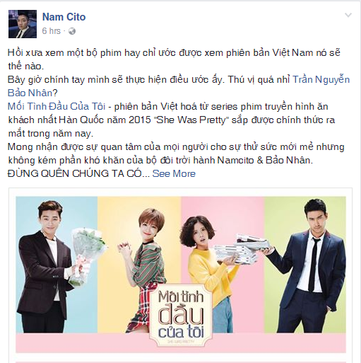 """Phim đình đám """"She Was Pretty"""" chính thức gia nhập trào lưu remake tại Việt Nam"""